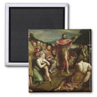 Sermon of St. John the Baptist 2 Inch Square Magnet