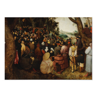 Sermon of St John the Baptist by Pieter Bruegel 5x7 Paper Invitation Card