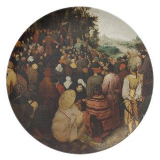 Sermon of St John the Baptist by Pieter Bruegel Melamine Plate