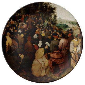 Sermon of St John the Baptist by Pieter Bruegel Porcelain Plate