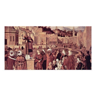 Sermon Of St Stephen At The Gates Of Jerusalem Personalized Photo Card