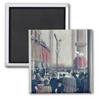 Sermon of the Papal Legate, Cornelius Musso 2 Inch Square Magnet
