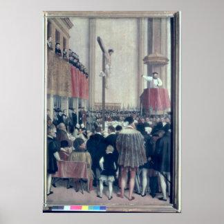 Sermon of the Papal Legate, Cornelius Musso Poster