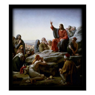 Sermon On The Mount Biblical Poster