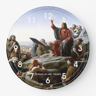 Sermon on the Mount Large Clock