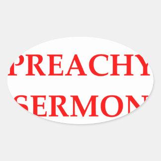 sermon oval sticker