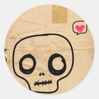 Serotonin Classic Round Sticker
