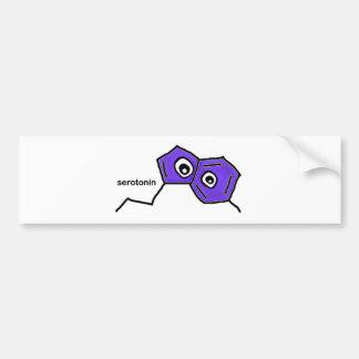 Serotonin Neurotransmitter Bumper Sticker