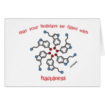 Serotonin Wreath Holiday Card
