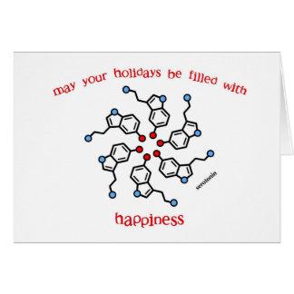 Serotonin Wreath Holiday Card