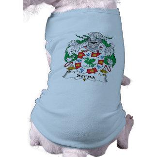 Serpa Family Crest Dog Shirt