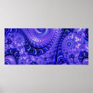 Serpantine Blue Poster
