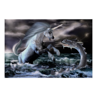 Serpent and Unicorn Poster