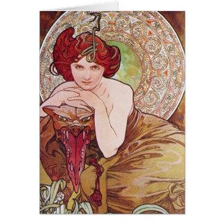 Serpent Art Nouveau Greeting Cards