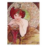 Serpent Art Nouveau Postcard