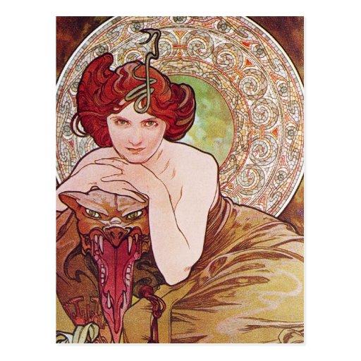 Serpent Art Nouveau Postcards