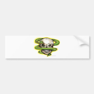 Serpent Evil Skull Bumper Sticker