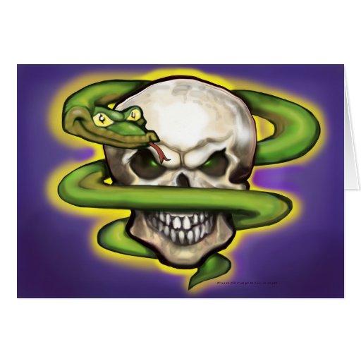 Serpent Evil Skull Card