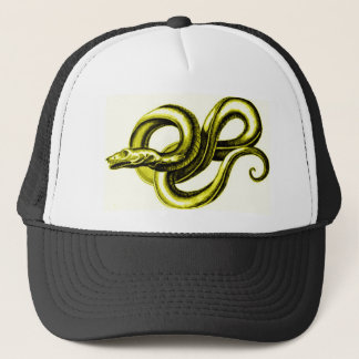 SERPENT (GOLD) MYTHOLOGICAL CREATURE VINTAGE PRINT TRUCKER HAT