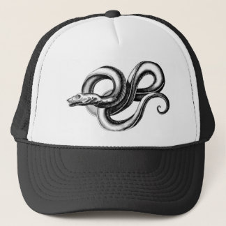 SERPENT MYTHOLOGICAL CREATURE VINTAGE PRINT TRUCKER HAT