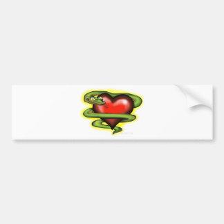 Serpent n Heart Bumper Sticker