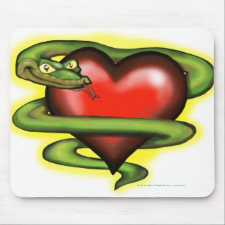 Serpent n Heart Mouse Pad