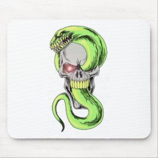 Serpent Skull Art Mouse Pad