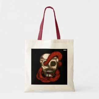 Serpent & Skull (Fire-Red) Budget Tote Bag