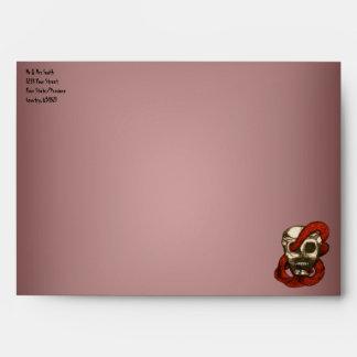 Serpent & Skull (Fire-Red) Envelopes