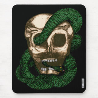 Serpent & Skull (Green) Mouse Pad