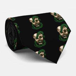 Serpent & Skull (Green) Neck Tie