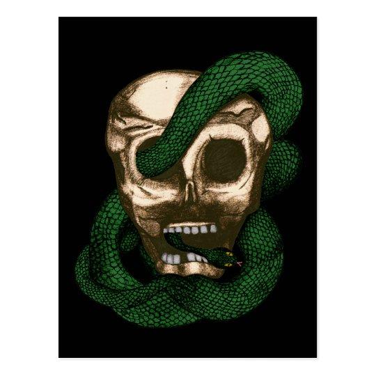 Serpent & Skull (Green) Postcard