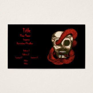 Serpent & Skull (Red) Business Card