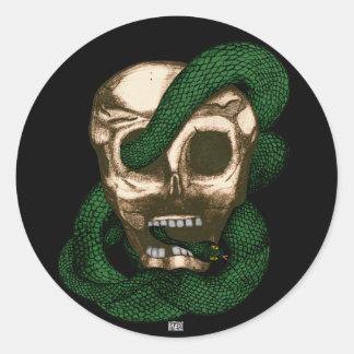 Serpent & Skull Round Stickers