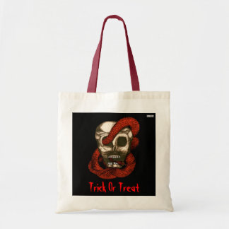 Serpent & Skull (Trick or Treat) Bag (Fire-Red)