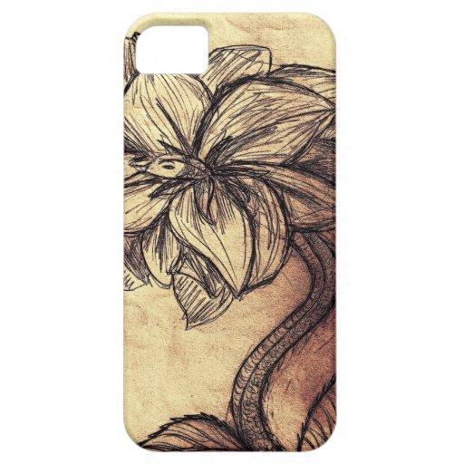 Serpent Stemmed Flower Case iPhone 5 Case