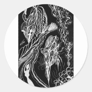 Serpent Wishes Inverted Sticker