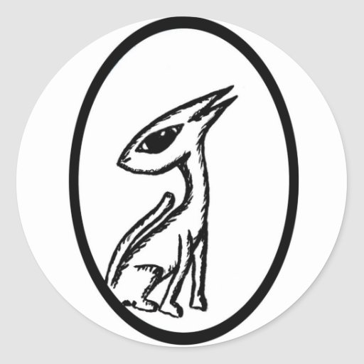 SerpentCat Classic Round Sticker