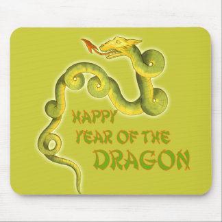 Serpentine Dragon Year of the Dragon Art Mouse Pad