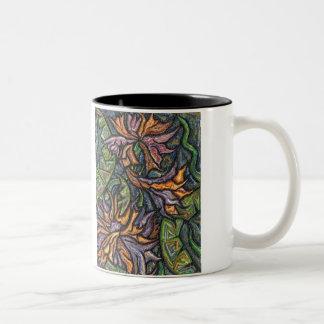 Serpentine Flowers Two Tone Mug