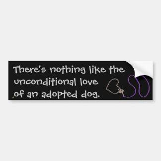 Serpentine Purple Leash & Heart Chain Car Bumper Sticker