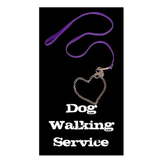 Serpentine Purple Leash Heart Chain Business Cards