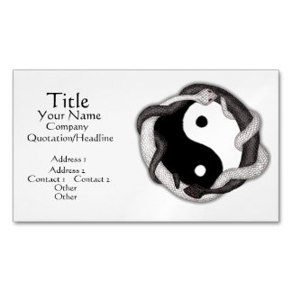 Serpents Dual (Black/White) Magnetic Business Card