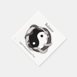 Serpents Dual (Black/White) Paper Napkin