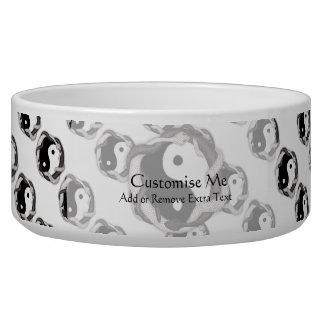 Serpents Dual (Black/White) Pet Food Bowl