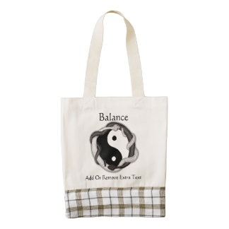 Serpents Dual (Black/White) Zazzle HEART Tote Bag