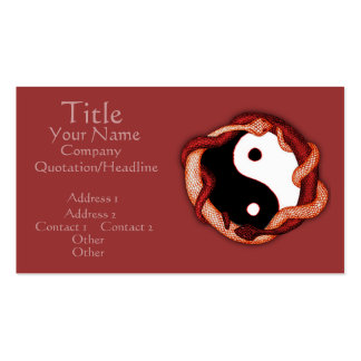 Serpents Dual (Red) Business Card
