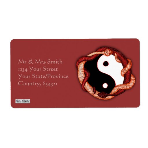 Serpents Dual (Red) Custom Shipping Labels