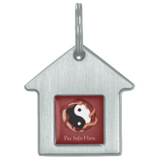 Serpents Dual (Red) Pet ID Tag