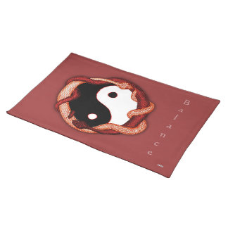 Serpents Dual (Red) Placemat